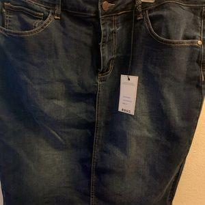 Judy Blue woman jean skirt 1XL